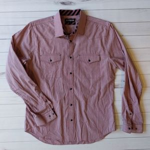Express Fitted Men's Plaid Button Down Shirt